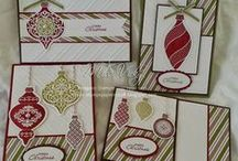 Stampin' Up! Ornament Keepsakes and Delightful Decorations / Project ideas using Stampin' Up's Ornament Keepsakes stamp set and matching Holiday Ornaments Framelits cutting dies.  Also includes projects featuring Delightful Decorations.