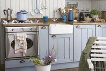Meine Traumküche / shabby, Landhaus, maritim, Muschelgriffe, Echtholz