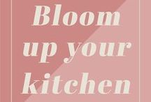 Bloom up your kitchen / Home decor inspiration by Bloomifique: Nice idea's to use flowers and plants in the kitchen