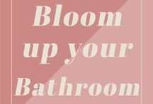 Bloom up your bathroom / The added value of flowers and plants in your bathroom.
