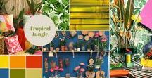 Interior: Urban jugle with vivid colours / A tropical urban jungle is the perfect autumn update for your home, because tropical colours like yellow, red and orange also fit well in the fall. | Bloomifique interior styling & home deco