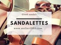 Sandalettes / | Here is our craft collection of real veal leather sandalettes made in Greece