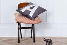 cushions / pillows / #alphabetpillows #cushions #Nordicdesign #Danishdesign #Inspiration #pillows #alphabetcushions