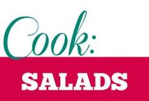 Cook || Salads / Light, fresh, robust, dainty or chopped. It's all in the vegetables :)