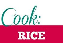 Cook || Rice / All sorts of rice based dishes