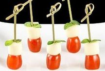 Healthy Snack Ideas / Fun ways to serve healthy snacks in bite size portions.