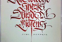 Calligraphy / Caligrafía / Tablero dedicado a recolectar, mostrar y compartir trabajos de caligrafía. / by El Ático Casa de Artes y Oficios