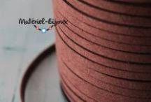Cordon lacet suédine / ♥ La nouvelle catégorie de matériel pour la création de bijoux fantaisie de la boutique : http://www.materiel-bijoux.fr/27-cordons-lacets-suedine