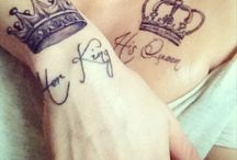 His queen tattoo couple