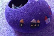 DIY - Pet Bits / Crochet, Paper Mache, Yarn, Cardboard - Crafts for Pets - Pet Beds, Toys, Tips, etc.