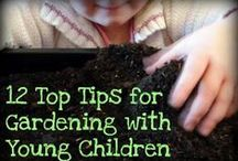 Gardening with Kids / Kid-friendly gardening projects - tips, projects, designs and advice for making your outdoors kid-friendly #gardening #kids_activities