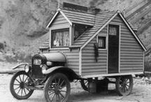 custom cabins on wheels... / by Rhonda