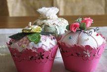 Fabric cupcake