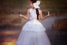 wedding-flower girl's dress
