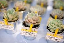 Garden Wedding Ideas / Wedding Decor Ideas inspired by the Garden; Guest favors, centerpieces, and wedding or bridal shower decorating ideas that take their cues from nature. #rustic #vintage #DIY #weddings