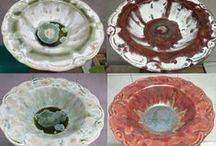 Before&After Ceramics / Reduction, Re-fires, Striking. ACID ale You can apply to change results of first firing. It is interesting to see how glaze is changing during different processes.