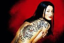 Asian women tatto