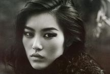 Asian Fashion black and White photos
