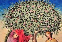 Historische Bomen Illustraties