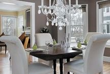 Decadent Dining / Lighting and interior design ideas for a decadent dining room