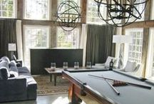 "The Man Cave / Lighting and interior design ideas for ""The Man Cave"", a space dedicated to a masculine influence."