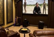 Movie Night / Lighting and interior design ideas for home theaters and cinema rooms.