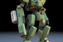 Robots / Rendered images of robot models. #3d #digital #artwork #render