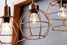 Copper Lighting / Beautiful copper lights