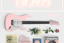 The 1975 / Pastel lights aesthetic and guitar riffs.