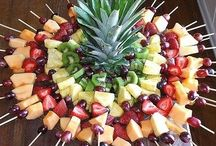 Food and fruits decoration