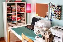 Sewing room / Ideas for decorating and organising the sewing room I will one day have