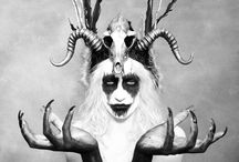 Horny / Horns in art fashion photography