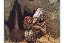 John Bauer / schilderijen, trollen
