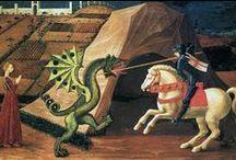 Michael en st Joris / heilige en aartsengel