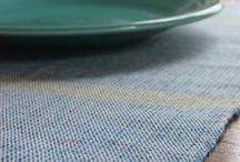 COLLECTION // DINING ROOM / Handwoven and sustainably produced table runners, placemats, and napkins.