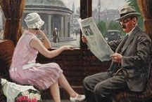 krantenlezers / het lezen van kranten
