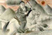 Fernando Botero, mannen / schilderijen