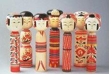 Japanse Kokeshi dolls / poppen uit japan