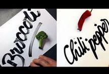 Каллиграфия, леттеринг и типографика / Все о рисовании букв и слов, полезное о шрифтах