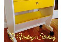 Painted Retro, Vintage & Upcycled Furniture by Vintage Stirling / www.vintagestirling.com  Handmade & custom designed vintage furniture.