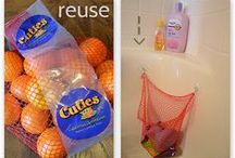 Grocery Store Upcycling / These common grocery store items are not always recyclable, but they can be reused or upcycled.