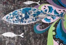 DECORATIVE PANELS / Pannelli decorati con tecniche miste. #fishdesignmarket #giovannipesce