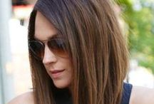 Long Layered bob hair