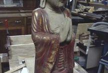 statuinaEtnica / Scultura polcroma in legno