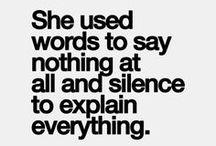 express yourself / speak up