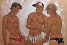 Sergey Sovkov (Graphic arts) / Naked men. Gay art