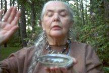"Mechi Garza, Choctaw-Cherokee Medicine Woman / Mechi Garza, a Choctaw-Cherokee Medicine Woman known as ""Grandmother Mechi"" inspired my love of public ritual."