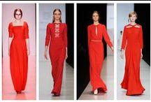 Mujer, vestido rojo. / Imágenes en donde aparecen mujeres con vestidos rojos. / by Diego Bermudez