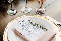 Wedding table og pynt