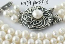 Jewelry with pearls / Necklaces, rings, earrings, bracelets with pearls. Freshwater pearls jewelry.